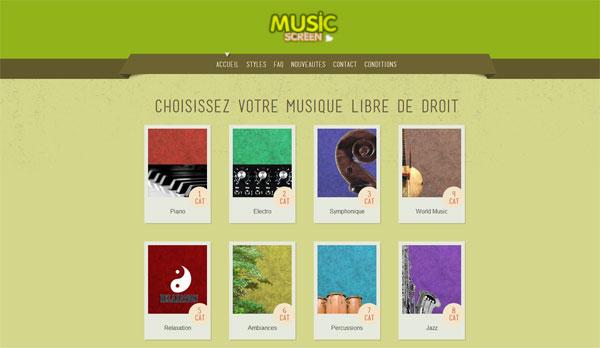 Site de musique d'illustration